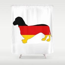 German Flag - Dachshund Shower Curtain