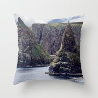 twin peaks Throw Pillows featuring Twin Peaks by Roger Wedegis