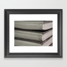 Hard Bound Pages  Framed Art Print