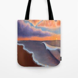 Lavender Beach Sunset Tote Bag