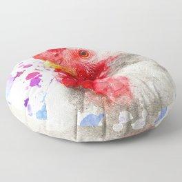 Watercolor Chicken, Chicken Painting, Chicken Decor, Chicken Art, Chicken Design, Hen Floor Pillow