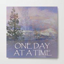 ODAT Trees Hills Snow Metal Print
