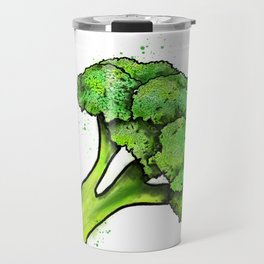Broccoli Painting Eat Your Veggies Series Travel Mug