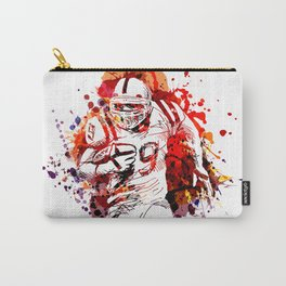Color illustration of American football player Carry-All Pouch
