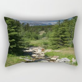 Mountain Brook In Th Rockies Rectangular Pillow