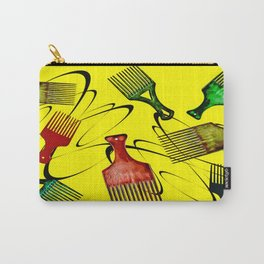 Afro Comb-Yellow Carry-All Pouch