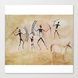 Cave art / Cave painting Canvas Print