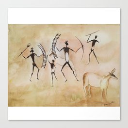 Cave art / Cave painting Canvas Print