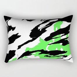 Green and Black Rectangular Pillow