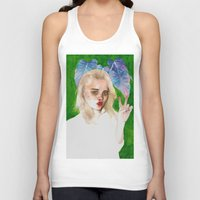sky ferreira Tank Tops featuring SKY FERREIRA PLUS PLANTS by Jethro Lacson