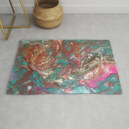 Copper and Turquoise Rug