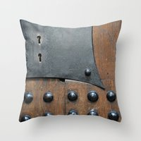 door Throw Pillows featuring Door by constarlation