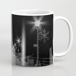 Early Morning Lights on Huntington Beach pier Coffee Mug