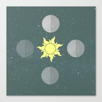 moon phases Canvas Prints featuring Phases by Shelby Thompson