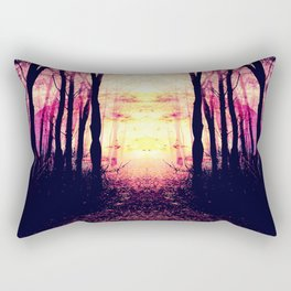 Path to Imagination : Mauve Pink Purple Rectangular Pillow