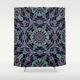 Alien Symmetry Shower Curtain
