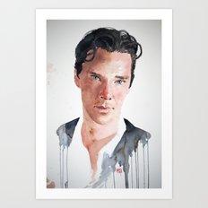 Sherlock, Benedict Cumberbatch Art Print