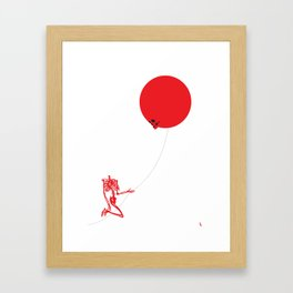 Inflated Ego (Redbone) Framed Art Print