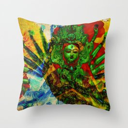 Divine series 3: Shakti Throw Pillow
