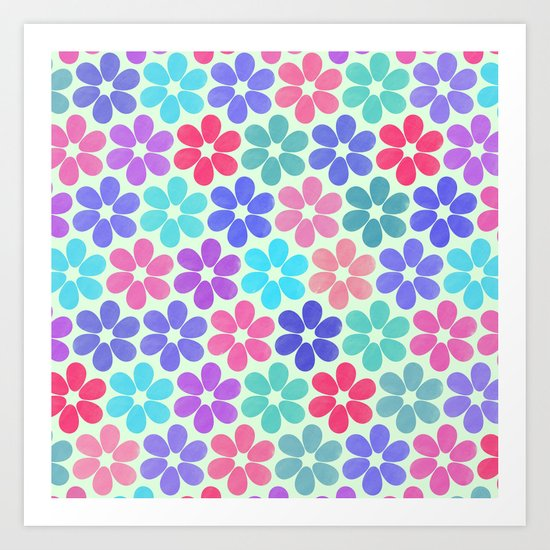 Colorful Floral Pattern Art Print