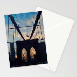 Brooklyn Bridge sunset Stationery Cards