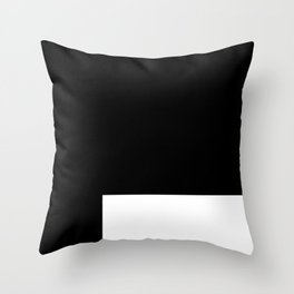 White Rectangle Throw Pillow