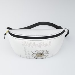 Christian Design - Satisfied Sheep.  Psalm 23 Fanny Pack
