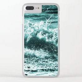 Leaping Falling Rushing #1 Clear iPhone Case