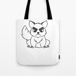 """I Hate Everyone Funny Cat"" tee for fur parents and pet lovers out there! Cutest gift ever!  Tote Bag"