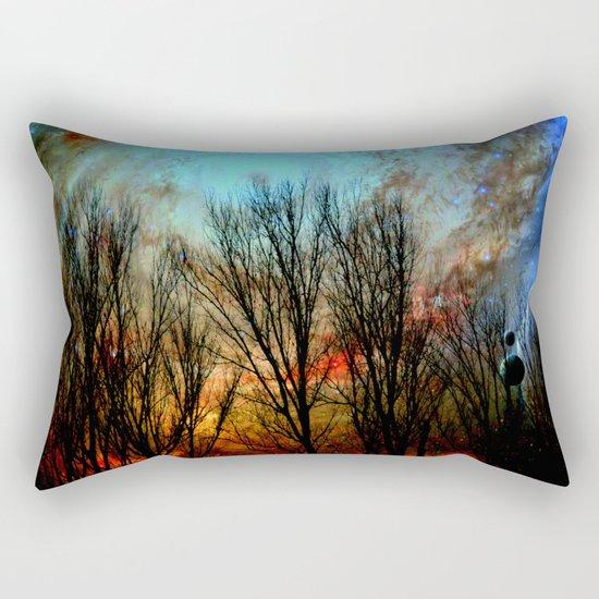space nebula forest Rectangular Pillow