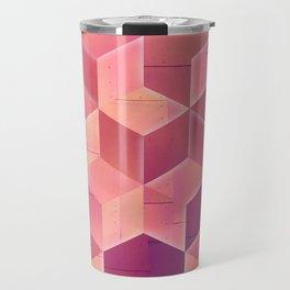 Chrome Cubes Travel Mug