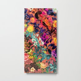 Floral and Birds II Metal Print