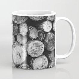 Logs of fire wood | Black and White | Lumber | Nature | By Magda Opoka Coffee Mug
