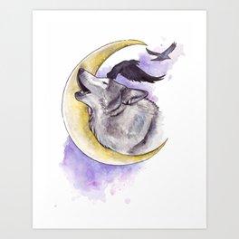 Crescent Howl Art Print
