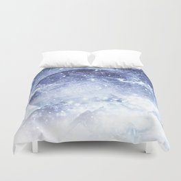 Even mountains get cold Duvet Cover