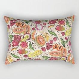 Ready to Eat - Fruit Pattern in White Rectangular Pillow