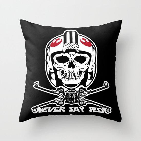 Doomies Never Say Jedi Throw Pillow