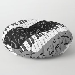 Contemporary Curved music Floor Pillow