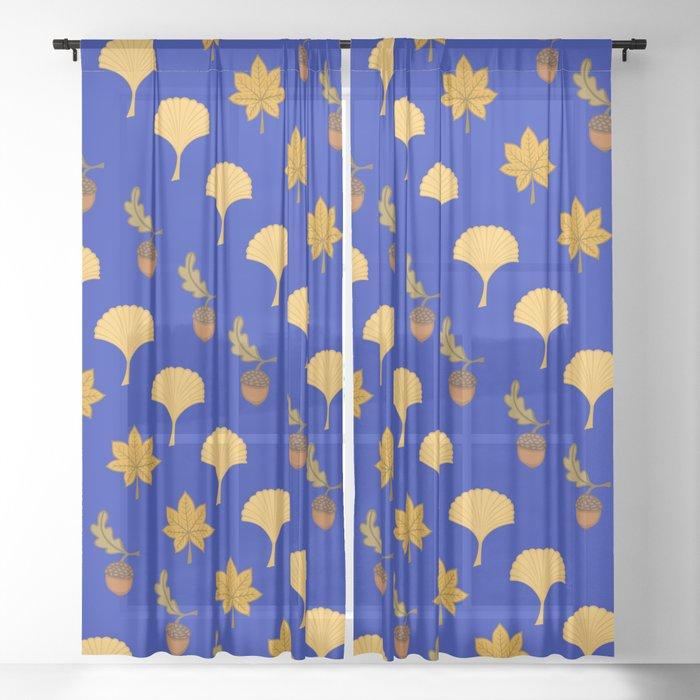 Leaves pattern10 Sheer Curtain