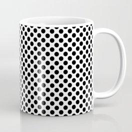 Minimalistic black and white small polka dots pattern Coffee Mug