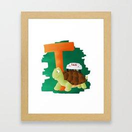 T comme Tortue Framed Art Print