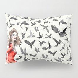 Barcelona Summer Bird Lady Pillow Sham