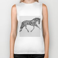 lee pace Biker Tanks featuring Paisley Pace by Caballos of Colour