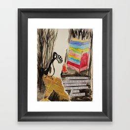 The Princess meets The Great Auk Framed Art Print