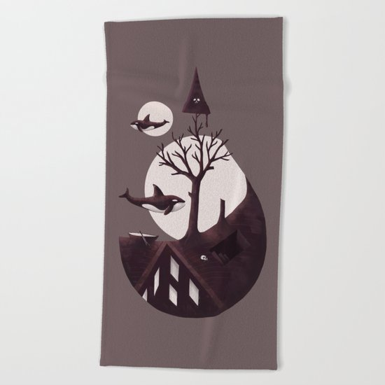 Darkly Dreaming Beach Towel