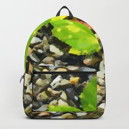 Green maple leaves Backpack