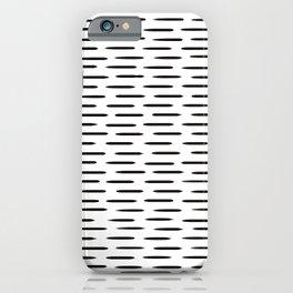 Black Short Horizontal Lines iPhone Case