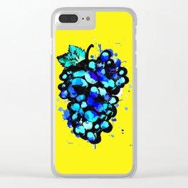 Colored Grape Clear iPhone Case