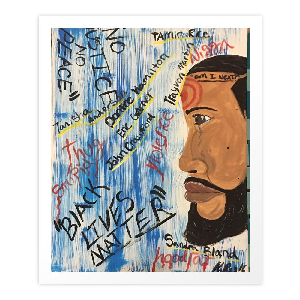 Black Lives Matter Art Print by artbyrray
