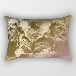 Owlface Rectangular Pillow